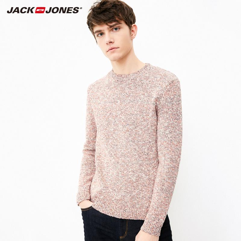 JackJones Autumn Men's Trend Floral Woven Cotton & Wool Sweater Pullover Top Menswear 218324520