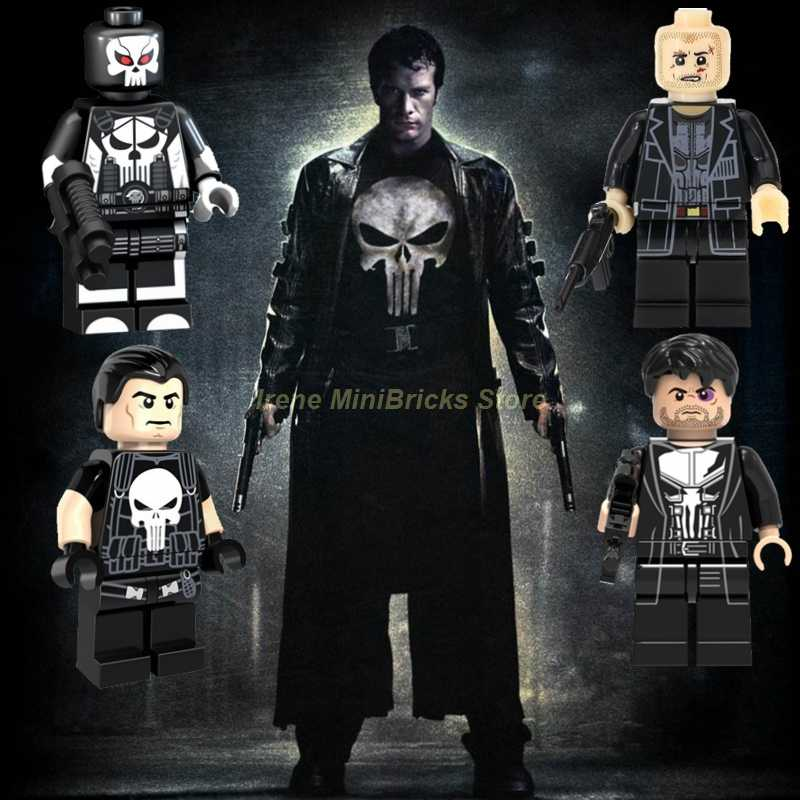 Punisher SpiderMan Havok Domino Sunfire Electro Super Heroes Iron Man Spielzeug Für Kinder Marvel Avengers Endgame Bausteine