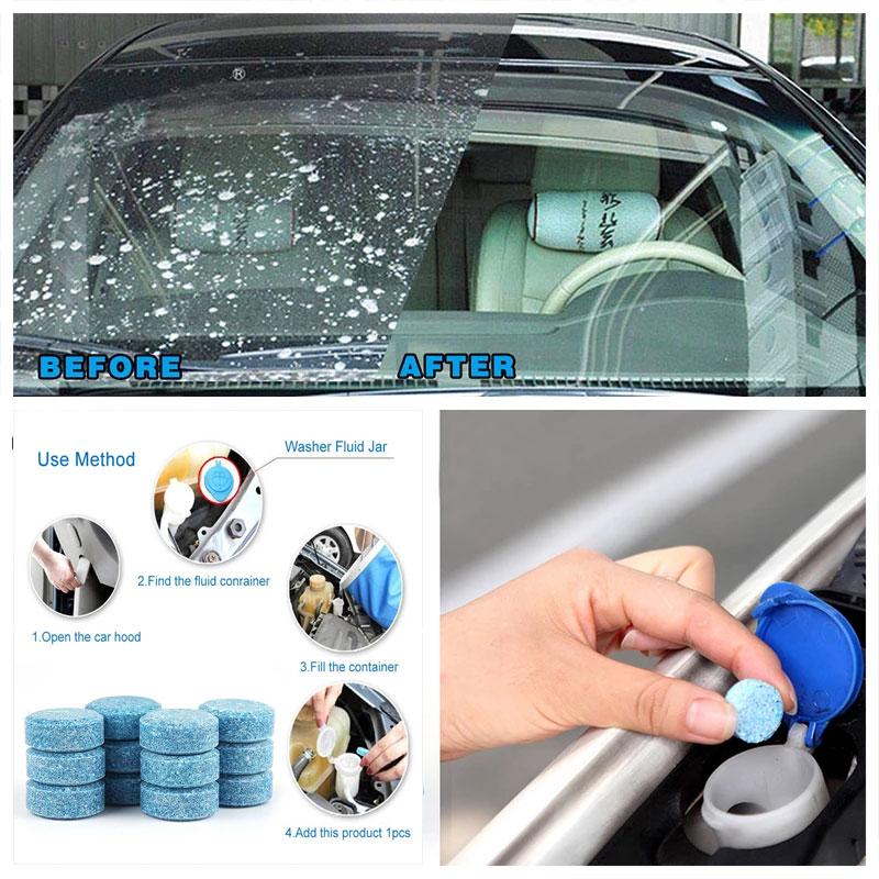 10/20/50PCS/Pack Car Solid Wiper Fine Seminoma Wiper Auto Window Cleaning Car Windshield Glass Cleaner Car Accessories