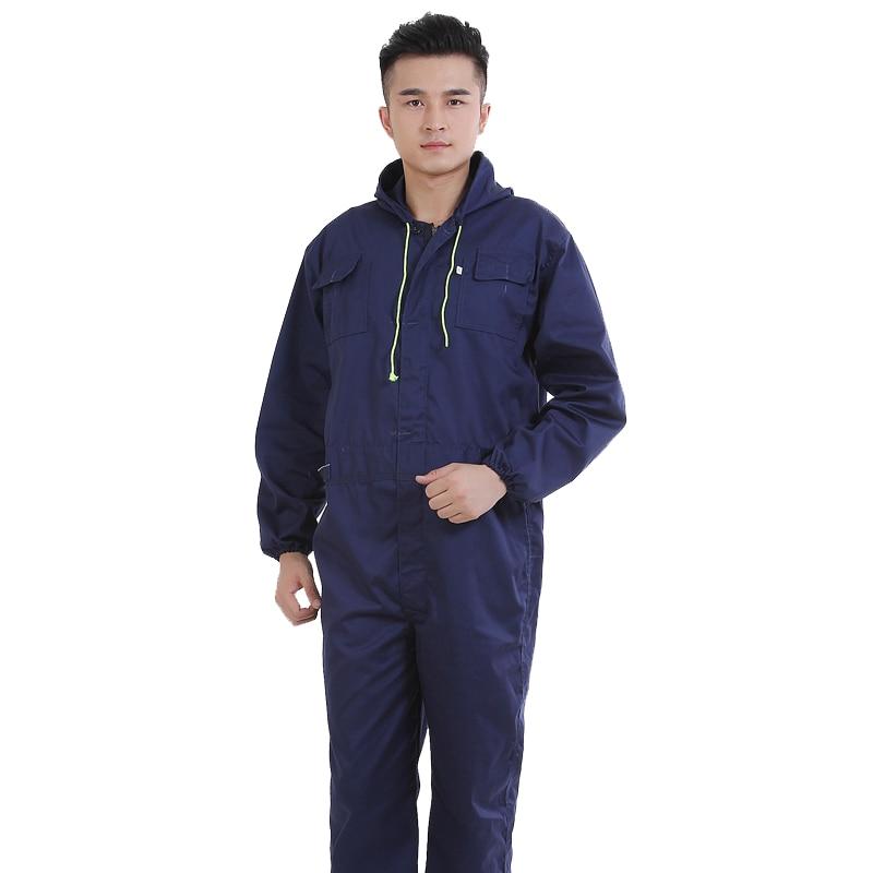Long-sleeve Jumpsuit Male Work Auto Repair Dustproof Workshop Welder Suit Taller Mecanico Mono De Trabajo Overalls Boiler Suits