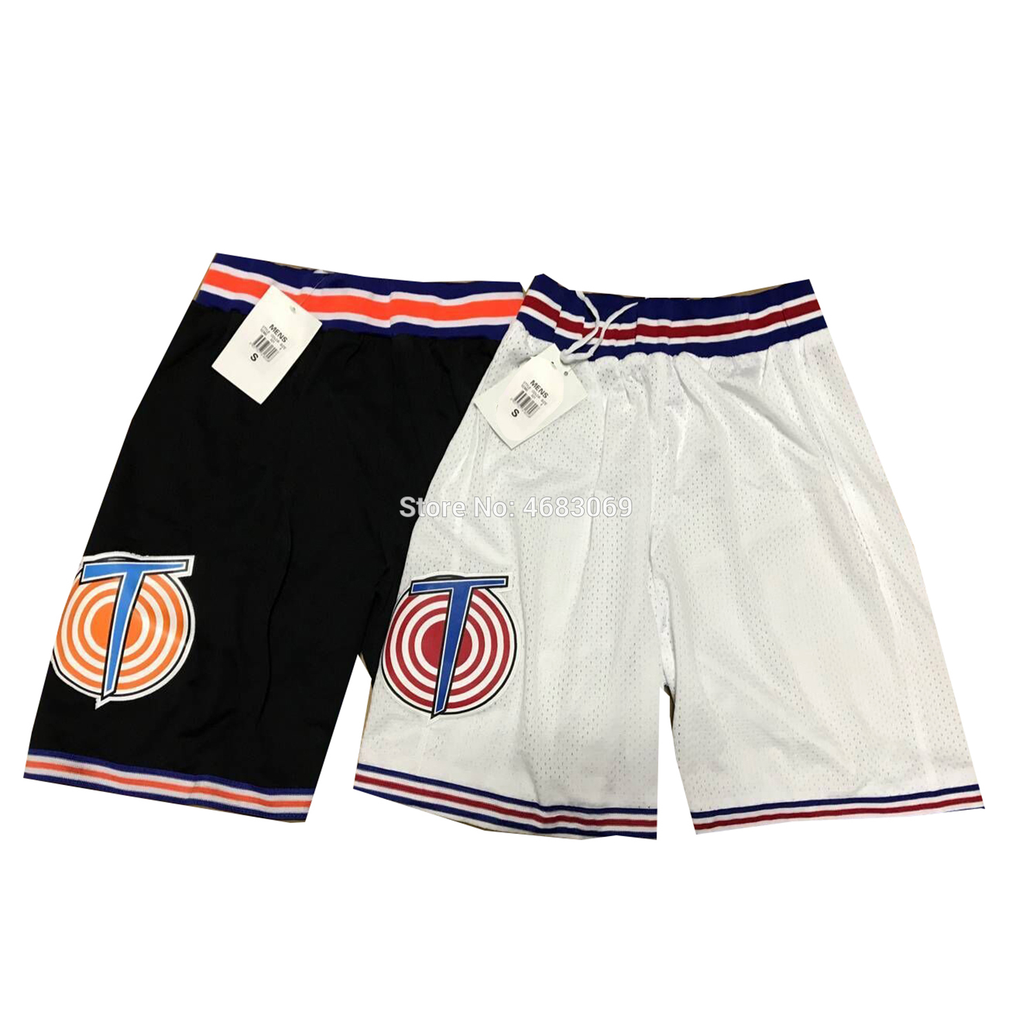 Costume Space Shorts Movie Tune Squad JORDAN LOLA BUNNY BUGS BUNNY White Black Color Basketball Short S M L XL US STOCK