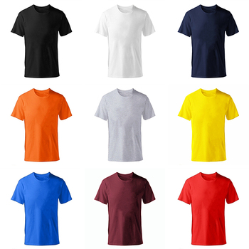 Solid color fashion 100% cotton T-shirts Summer Plus size XS-M-XL