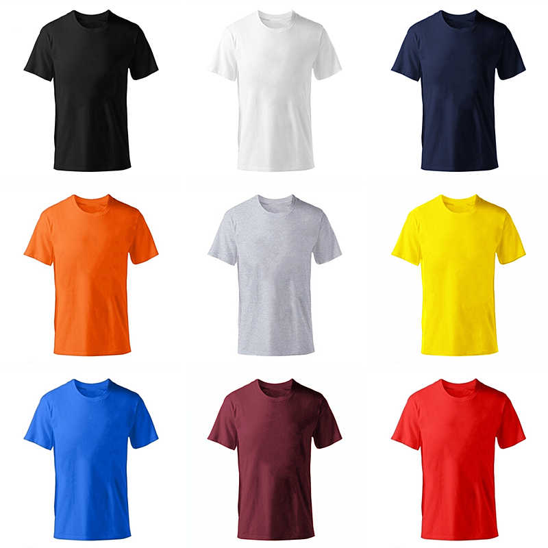 2019 Nuovo colore Solido T Shirt Mens di modo 100% cotone T-Shirt di Estate Short sleeve Tee Boy Skate Tshirt Magliette e camicette Plus formato XS-M-XL