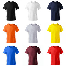 2019 New Solid color T Shirt Mens fashion 100% cotton T-shirts Summer Short sleeve Tee Boy Skate Tshirt Tops Plus size XS-M-XL(China)