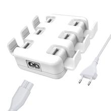 All Smartphones Pad 5V/8A 6 USB Port Multiple Wall Smart Charger Quick Charging Adapter EU/US Plug Phone USB Charger