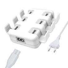 Tüm akıllı telefonlar için Pad 5 V/8A 6 USB bağlantı noktası çoklu duvar akıllı şarj cihazı hızlı şarj adaptörü ab/abd Plug telefon USB şarj cihazı