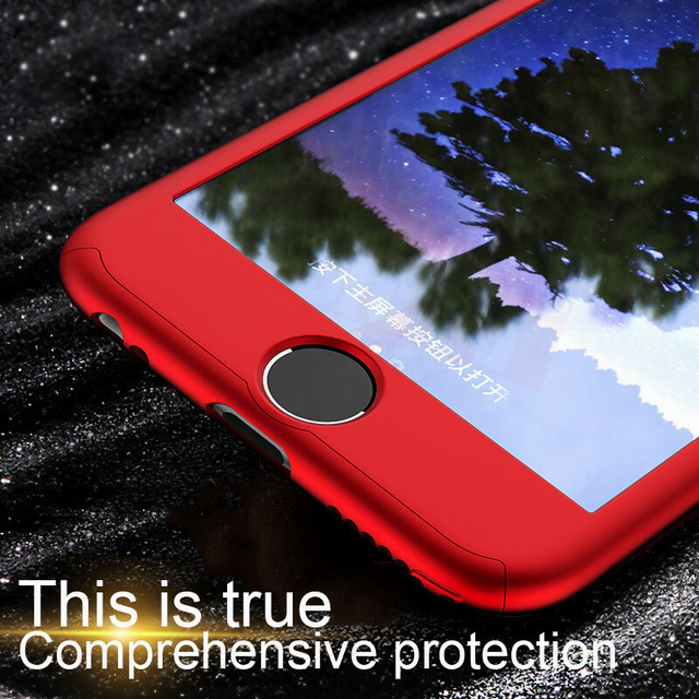 360 Full Cover Phone Case For iPhone X 8 6 6s 7 Plus 11 Pro Max PC Protective Cover For iPhone 7 5 5s XS MAX XR Case With Glass 3