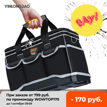 """""""Multifunction Tool Bags Size 14"""""""" 16""""""""19"""""""" 20"""""""" Oxford Cloth Bag Top Wide Mouth Electrician Special Tool Kit Bags Waterproof Toolkit"""""""