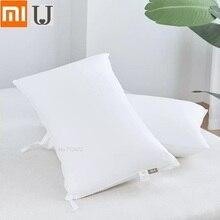 Almohada de fibra antibacteriana de 8H, cojín estéreo de algodón fresco y antibacteriano para dormir