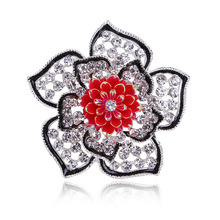 Young Tulip popular new design flower shape brooch alloy plant brooch for women rhinestone brooch elegant gifts muticolor pins цена 2017