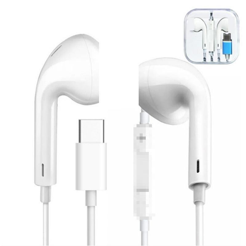 Usb tipo-c plug fones de ouvido com fio de controle com microfone estéreo de alta fidelidade tipo c fone de ouvido in-ear fone de ouvido para xiaomi huawei samsung