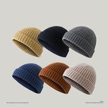 Мужская вязаная шапка yuppie толстая зимняя Осенняя теплая высококачественные