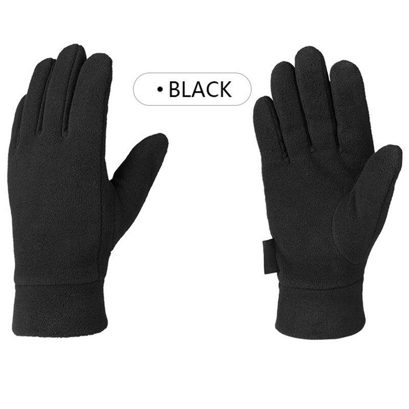 Unisex Outdoor Riding Fleece Gloves Winter Light Thermal Sports Ski  Full Finger Glove Running Socks Cycling Thermal Glove 1