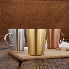 304 Stainless Steel Coffee Mug Double Wall Plated Coffee Cup Anti-scalding Water Cup with Handle Milk Tea Cup Beer Drinking Mugs цена 2017