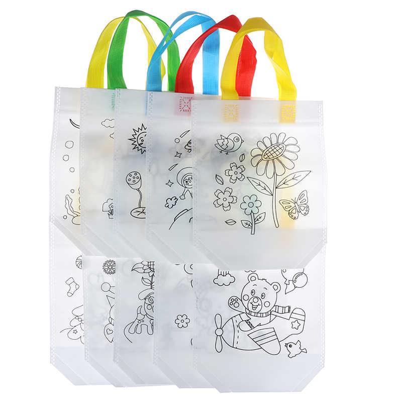 Graffiti belirteçleri boyalı çanta Non-woven boyama resimleri anaokulu çocuk grafiti sanat malzemesi seti çantası çizim oyuncak