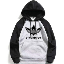 New Stranger Things Autumn Hoodie Tracksuit Boys Men Raglan Hooded Sweatshirts Thing Movie Tv Show Hoodies Harajuku