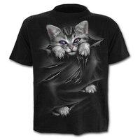 Più nuovo gatto 3D T-shirt stampata Casual manica corta o-collo moda stampata 3D t shirt uomo/donna Tees maglietta di alta qualità Hombre