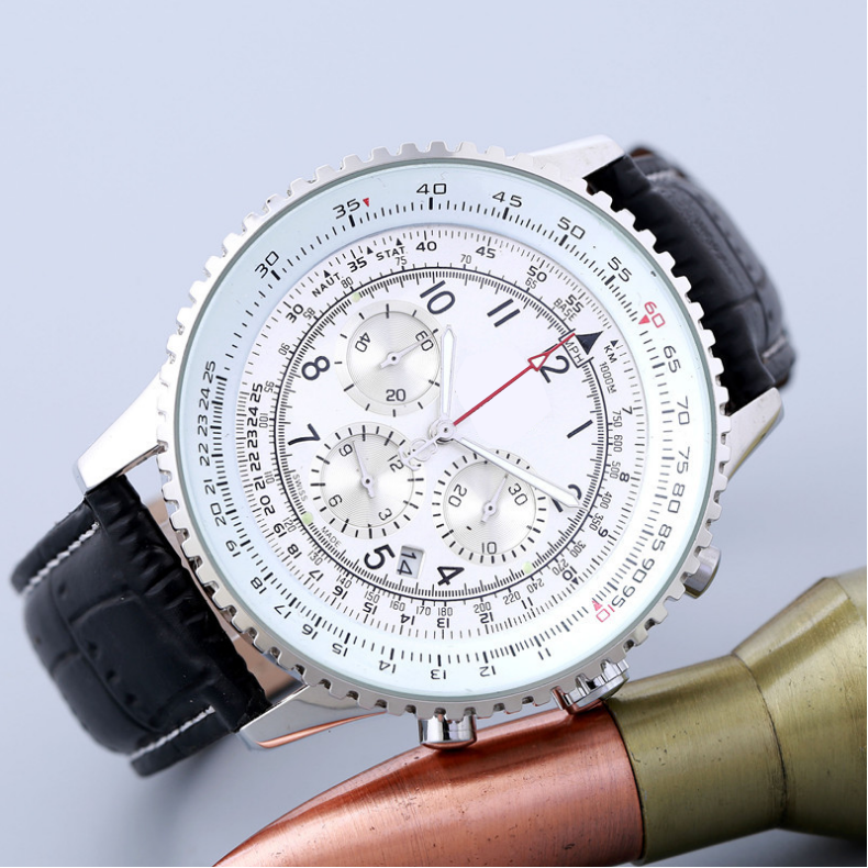 FOSSIL Luxury Brand Mens Watches 6 Pin Large Dial Quartz Watch with Leather Strap relojes hombre 2020