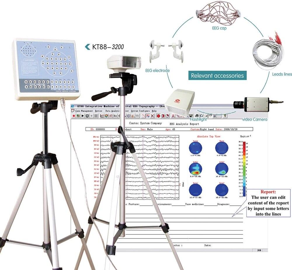 EEG Mapping Machine Analyzer Digital Brain Electric 32Channels KT88 3200