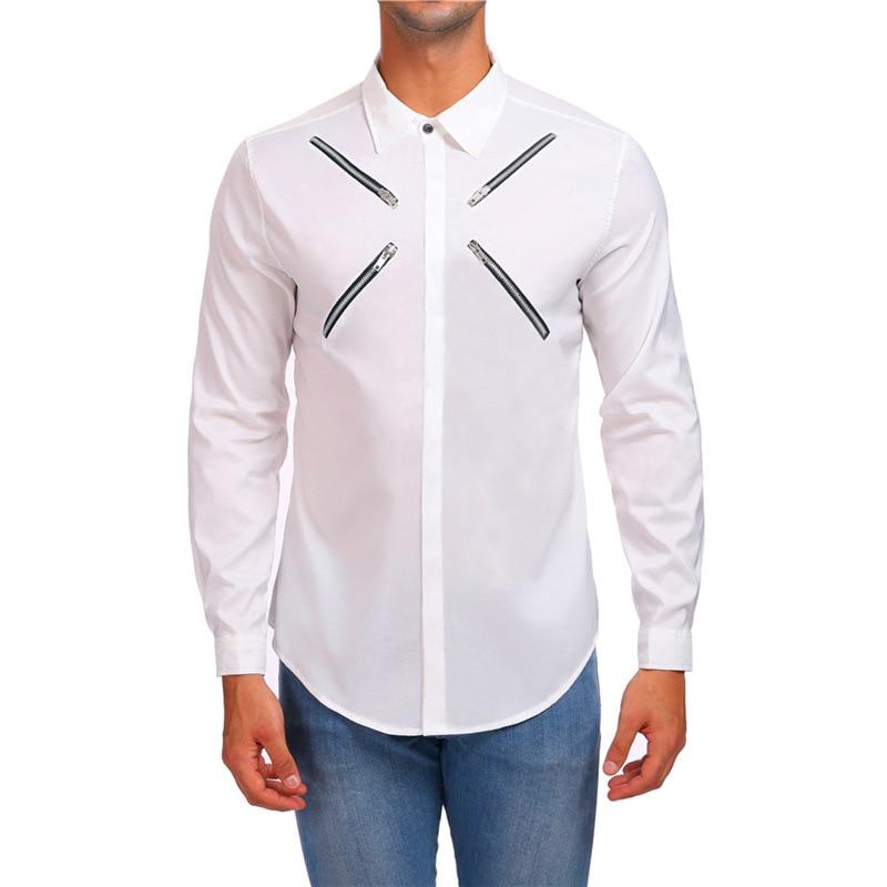 Рубашка с длинными рукавами для мужчин, новая модная дизайнерская мужская Однотонная рубашка, нежелезная тонкая рубашка, деловые рубашки, с...