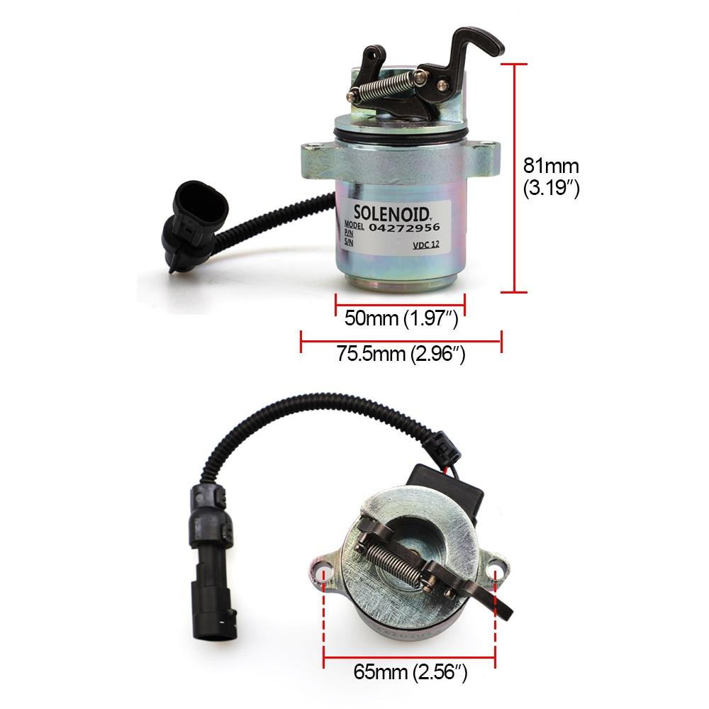 12V Dispositivo di Arresto del Combustibile spento solenoide Valvola 04287583 0428-7583 Per Il Motore Deutz 1011 YC101554