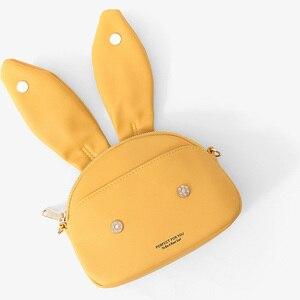Image 5 - WEICHEN Nette Kaninchen Design Crossbody tasche Für Frauen Weiche Leder Damen Messenger Schulter Taschen Bolsa Sac Weibliche Geldbörse