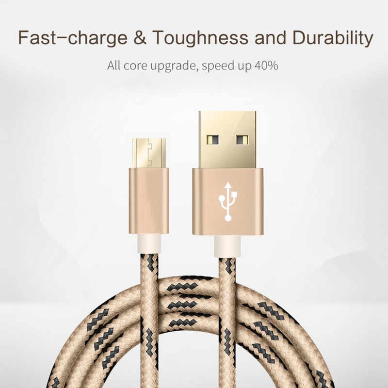 Tốt 1M/2M Micro USB Cáp Sạc Nhanh Micro USB 3A Samsung Huawei Xiaomi Redmi điện Thoại LG Cáp Sạc Microusb Dây