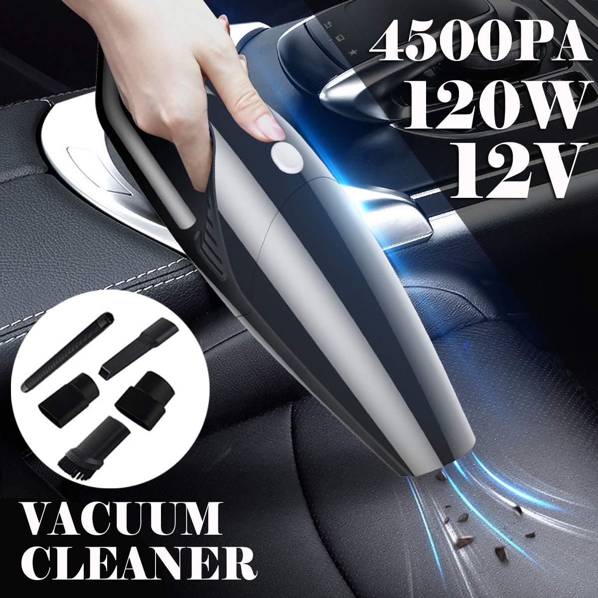4500Pa 120W Cordless Corded Hand Held Vacuum Cleaner Strong Power Vacume Cleaner Mini Portable For Car Auto Home