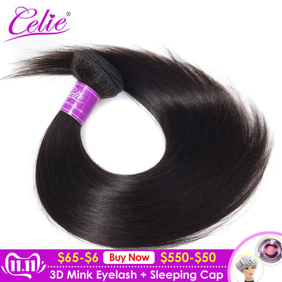 Celie cabelo em linha reta feixes de cabelo 100% remy extensões do cabelo humano pacotes 28 30 32 34 36 38 40 polegada tecer cabelo brasileiro pacotes