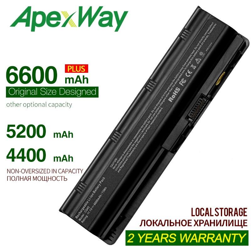 6 เซลล์ MU06 แบตเตอรี่แล็ปท็อปสีดำสำหรับ HP Notebook 593553-001 สำหรับ Pavilion G4 G6 G7 G32 CQ42 593562-001 DV4 DV6 MU09 HSTNN-LB0W