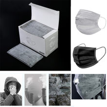 2020 Unisex Mask Anti Pollution Mask 50 pics/box Black /Gray high quality Women Men Fabric Dust Mouth Mask(China)