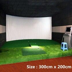 Тренировочный симулятор для игры в мяч для гольфа, проекционный экран с эффектом воздействия, внутренний экран 300 см x 200 см