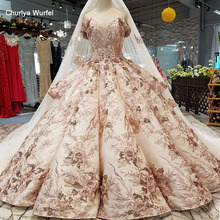 LS46548 luxury special dubai wedding dress sweetheart off shoulder bridal dress with long cape real price made in china factory цена