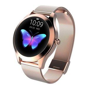 Женские Смарт-часы-браслет с Откидывающейся Крышкой и ярким экраном, водонепроницаемые модные часы с шагомером, мониторинг сна