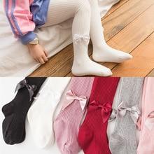 Детские носки; весенние хлопковые колготки для детей; детские трусы в Вертикальную Полоску с бантом; детские носки; носки для малышей; 19