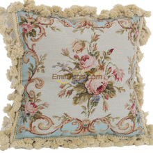Rococo cloth art Baroque soft Hand woven pillow needlepoint cushion Imported Art