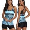 Plus Size Swimwear Women Sexy Tankini Set Two Piece Swimsuits Women 2020 Print Tankini Push Up Bathing Suit Women Biquinis 3XL