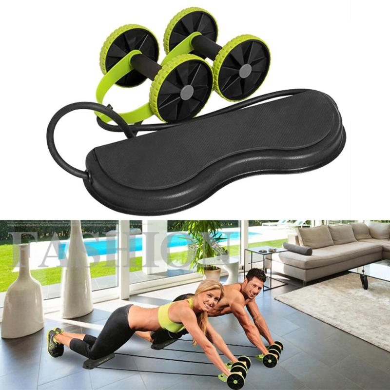 New Men Women Fitness ABS Wheel Roller Muscle Trainer Fitness Equipment for Gym Trainer Home Workout Tool Abdominal Muscle Train image