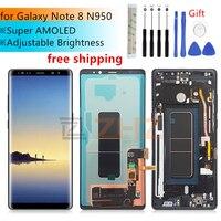 Super Amoled для samsung Galaxy Note 8 ЖК дисплей кодирующий преобразователь сенсорного экрана в сборе N950 N950F + рамка Замена запасные части