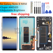 Super Amoled for Samsung Galaxy Note 8 lcd display touch screen Digitizer Assembly N950 N950F   Frame replacement repair parts