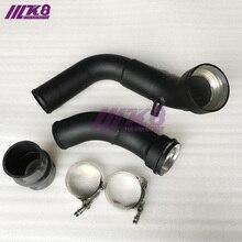 Черная труба впускного заряда алюминиевая OEM Замена для BMW F20 F30 M135i M235i 335i 435i N55 3,0 T(K8-BMW-N55