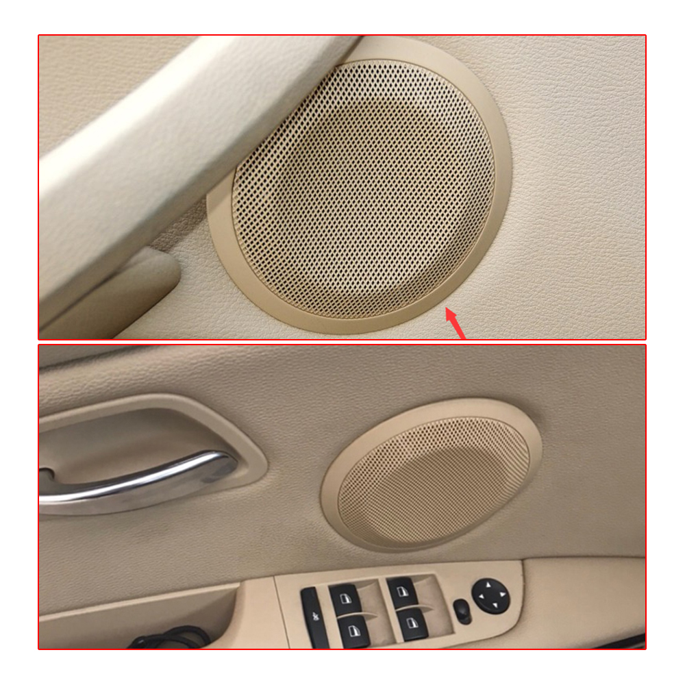 4pcs car front rear door speaker cover For BMW E90 E91 series horns lid high quality loudspeaker case trim decoration article image