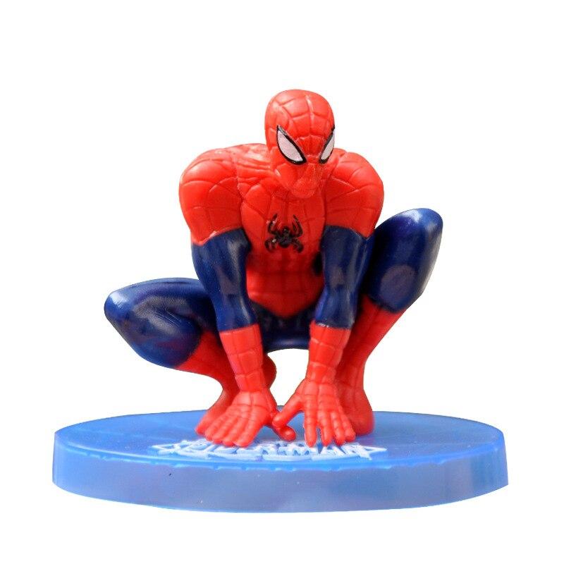 Фигурки героев мультфильмов Marvel, танос, Человек-паук, игрушки, декоративное украшение для детей, подарок на день рождения, торты, настольное ...