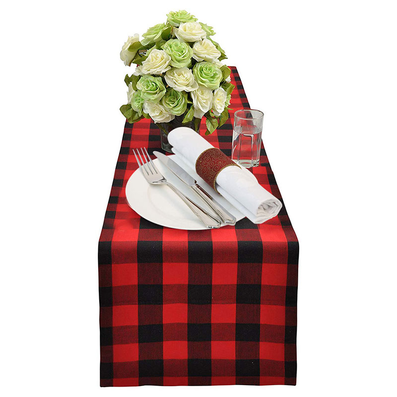 30x180cm Cotton Table Runner Buffalo Plaid Table Cloth Rectangle Modern Table Runners Table Napkins For Home Wedding Party Hotel