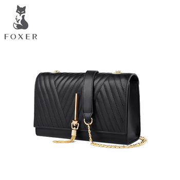 women leather bag  Fringed chain small square bag 2020 new fashion wild shoulder Messenger bag