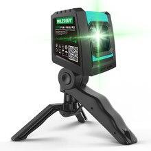 Mileseey 2020 nouveau 2 lignes Laser niveau L52R professionnel Vertical croix Laser niveleur avec batterie et trépied