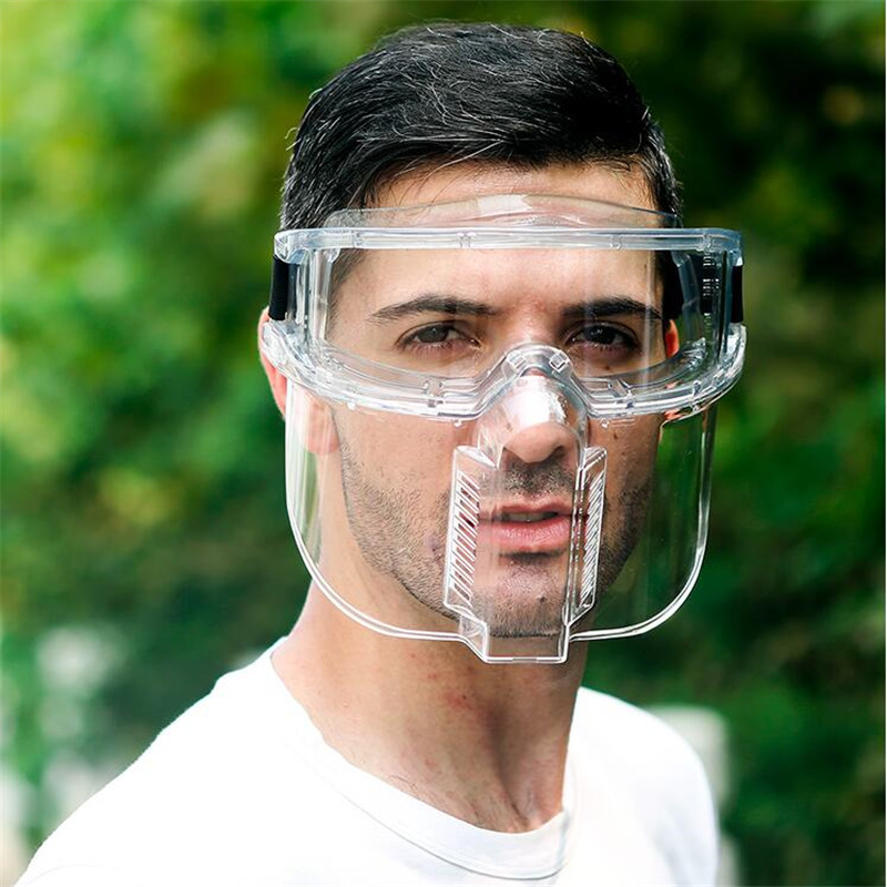 Protective Face Mask Full Face Facial Protection Splashproof Dustproof Impact Transparent Kitchen Protective Mask Face Screen
