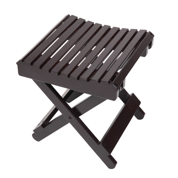 Children Multi-function Collapsible Bamboo Stool Brown WWO66