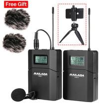 Mailada wm8 sistema de microfone sem fio, profissional uhf, gravação de vídeo, lavalier, microfone de lapela para iphone, gravador dslr, entrevista