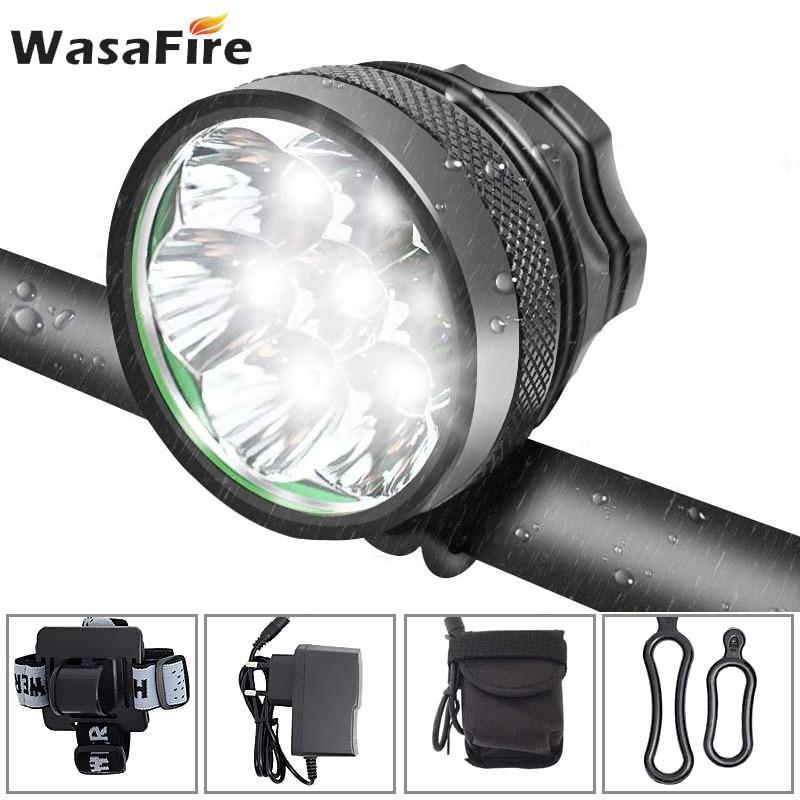 20000LM XM-L XML T6 LED Zoom Headlamp Headlight flashlight 18650 head light lamp